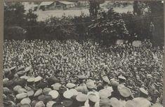 Александр Керенский выступает перед военными, 1917 год