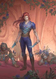 Blood Elf Rogue by Bob Lin (xpost /r/ImaginaryElves)