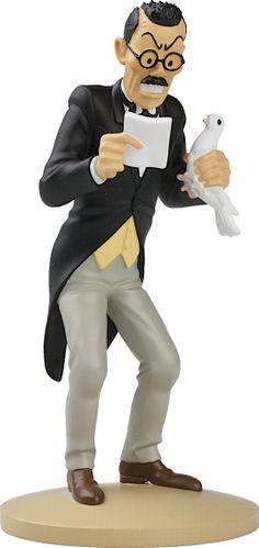 TINTIN FIGURINE NUMERO 14  COLLECTION disponible en France et en Belgique    Référence de la figurine : Mitsuhirato  Le Lotus bleu, planche 48, case B2