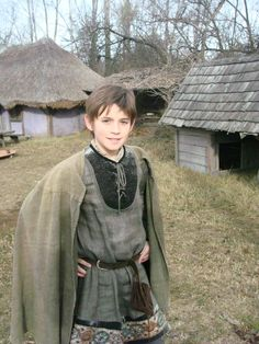young French boy in medieval costume