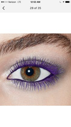 Love the bit of shimmer w the purple lashes