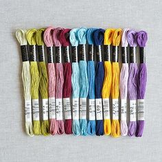 Cosmo : Embroidery Floss Palette : Underwater Regal : 15 pcs : the wor...