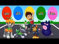 Colors for Children to Learn with Rocky, Ryder, Chase, Marshall    Colou...
