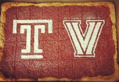 When you have a tailgate for both sides of the fence. Temple v Nova Custom Tomato Pie. #gamedaydilemma #customtomatopie #tomatopie