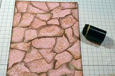 Faux Torn Mosaic Tutorial - Splitcoaststampers