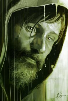 Viggo Mortensen in The Road, by Massimo Carnevale.