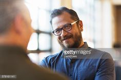 Stock Photo : Businessmen talking in office