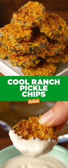Cool Ranch Doritos lovers: prepare to freak out over these pickles. Get the recipe at Delish.com.
