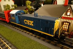 Find It Locally RailKIng CSX SW9 http://mthtrains.com/30-20284-1 Passing by the station this morning the just arrived MTH RailKIng SW9 Switcher. The SW9 was featured in the 2015 Volume 1 RailKing & Premier O Gauge Trains Catalog in BNSF 30-20283-1, CSX 30-20284-1, Norfolk Southern 30-20285-1, and CP Rail 30-20286-1. The RailKIng SW9 operates on O-27 Curves and these 2015 models have a MSRP of $319.95. Ask your MTH Dealer about getting a RailKing SW9 today.