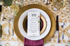 Wedding Menu Art Deco Wedding Menu DEEPER LOVE by ChampagnePress