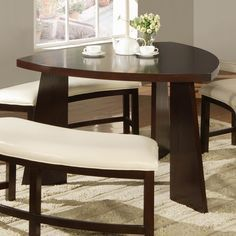 Buy Zuari Dining Table Set Seater Wenge Finish Piru Online India - Circular dining table for 4