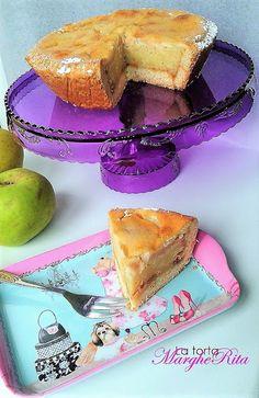 La Torta Margherita: Tortina di mele  alle mandorle