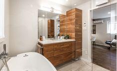 Alcove, Bathtub, Bathroom, Design, Powder Room, Glass Shower, Wood Glass, Bright Bathrooms, Relaxing Places