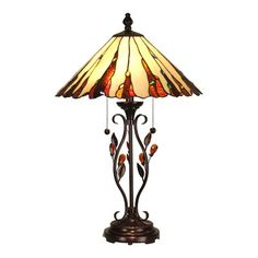 """Dale Tiffany Ripley 27.5"""" H Table Lamp with Empire Shade"""