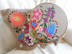 Embroidery with wool