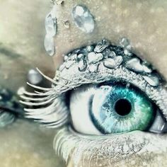 Amazing eye makeup. That is something else