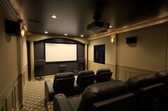Modern small home theater room ideas full size of home theatre room ideas small cinema movie entertainment basement patio appealing excellent theater home Theater Room Decor, Home Theater Setup, Best Home Theater, At Home Movie Theater, Home Theater Seating, Home Theater Design, Dream Theater, Home Cinema Room, Home Theater Rooms