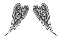 Hand drawn angel wings by Microvector on Creative Market
