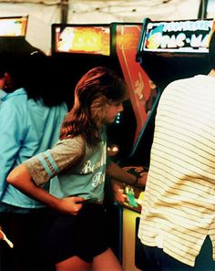 1980s Video Game Arcade... Who remembers PAC Man Palace downtown Wallace??