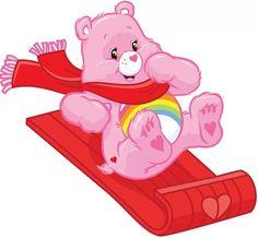*Cheer Bear. Care Bear Sledding