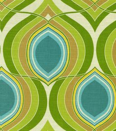Home Decor 8''X 8'' Fabric Swatch-HGTV Home Groove Move Turquoise