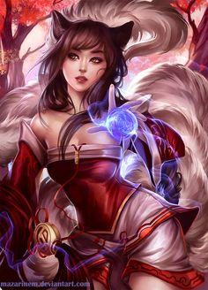 League of Legends - Ahri (vous avez pas vu les oreilles de chat ??)