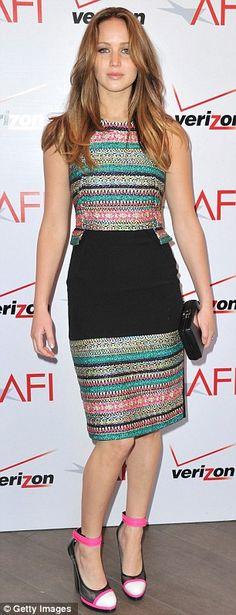 Jennifer Lawrence looked stunning in a Prabal Garung dress