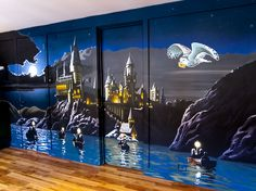 Delightful Kidu0027s Murals, Harry Potter Wall Mural   Hogwarts From The Lake Awesome Ideas