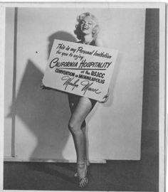 1953 portrait of Marilyn
