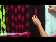 DIY Como fazer Painel Cortina Torcida de Papel Crepom para decoração de festas(como enrolar o papel) - YouTube