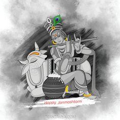 Lord Ganesha Paintings, Lord Shiva Painting, Krishna Painting, Kerala Mural Painting, Indian Art Paintings, Madhubani Art, Madhubani Painting, Janmashtami Wishes, Janmashtami Quotes