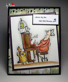 Art Impressions Stamps: Betty (Sku#U1527)  Perfect background paper.