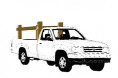 Lift In / Lift Out Wood, Pipe, Canoe, Kayak Or Ladder Rack For Your Pickup