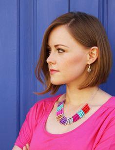 #DIY Multi color necklace - DIY collar multicolor do blogue Plan B anna evers em espanhol