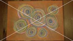 """13: """"Spiralen in Energie-Orange""""   Kunsttechnik: #Pastellkreide   Maße: 29,2x41,2"""