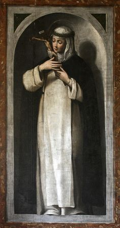 St Catherine of Siena  29 April is the feast of St Catherine of Siena, Dominican mystic and saint, who is patroness of Europe. This painting of the saint contemplating Christ Crucified is from the Dominican nuns' convent at Caleruega, Spain.