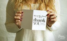 nice Papelaria de casamento   Cartão de Agradecimento de Casamento