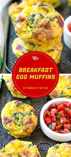 These breakfast egg muffins from Dinner at the Zoo are made with chopped spinach, crumbled cooked bacon, and shredded cheddar cheese—and they're ready to eat in 20 minutes.