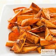 You won't miss the fried version if you make our Roasted Sweet Potato Wedges.