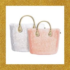 How to wrap O bag in a soft hug? With the new faux fur cover enveloping O bag classic and O bag mini, to be matched to the golden handles. #Obag #fluffy #softpeluche #mixandmatch #ecofur