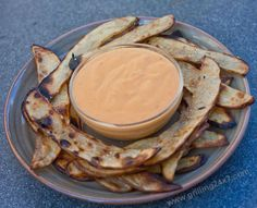 Grilled habanero cheddar cheese sauce with grilled French fries - a grilling recipe Cheese Dipping Sauce, Cheddar Cheese Sauce, Grilling Sides, Outdoor Grilling, Cheese Recipes, Sauce Recipes, Habanero Recipes, Green Egg Recipes, Fries Recipe