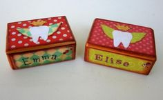 Custom Name and Colors Tooth Fairy Box Tooth by MyButterflySister, $33.00