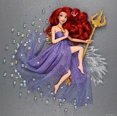 Disney Barbie Dolls, Ariel Doll, Disney Princess Dolls, Disney Princess Dresses, Disney Princesses, Cute Disney, Disney Art, Walt Disney, Princesa Ariel Disney