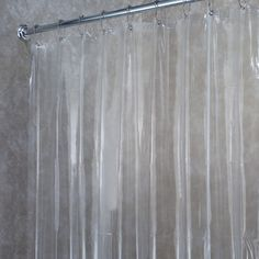 Premium Weight Jumbo Long Vinyl Shower Curtain Liner With Metal Eyelets ( Clear)