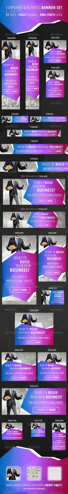 21 Corporate Web Ad Banners - Banners & Ads Web Elements