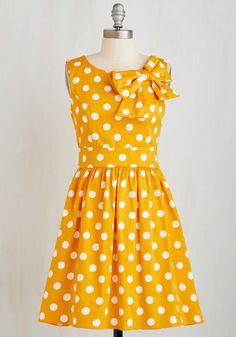 New Arrivals - The Pennsylvania Polka Dress in Honey Dots