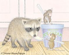 """Mudpie, Muzzy & friend a featured on The Daily Squeek® for Sept. 29th, 2014. Click on the image to see it on a bunch of really """"Mice"""" products"""