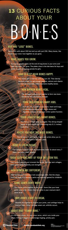 13 strange and interesting facts you need to know about your BONES. #arthritisfacts