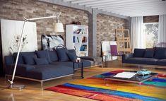 #Dekoration Wandgestaltung Im Wohnzimmer U2013 Unbehandelte Ziegelwand  #Wandgestaltung #im #Wohnzimmer #u2013