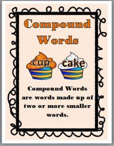 Cupcake Compound Words Match-Up Activity
